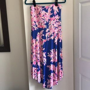 DONATING SOON! Strapless Lilly Pulitzer dress